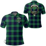 1stScotland Clothing - Abercrombie Clan Tartan Crest Polo Shirt A7