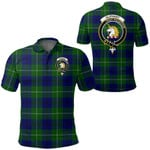 1stScotland Clothing - Oliphant Modern Clan Tartan Crest Polo Shirt A7