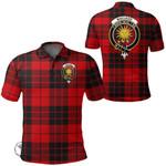 1stScotland Clothing - Macleod Of Raasay Clan Tartan Crest Polo Shirt A7
