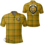 1stScotland Clothing - Houston Clan Tartan Crest Polo Shirt A7