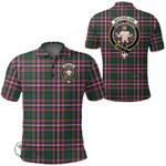 1stScotland Clothing - Macfarlane Hunting Modern Clan Tartan Crest Polo Shirt A7