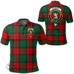 1stScotland Clothing - Stewart Atholl Modern Clan Tartan Crest Polo Shirt A7