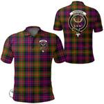 1stScotland Clothing - Carnegie Modern Clan Tartan Crest Polo Shirt A7
