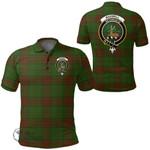 1stScotland Clothing - Maxwell Hunting Clan Tartan Crest Polo Shirt A7