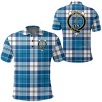 1stScotland Clothing - Roberton Clan Tartan Crest Polo Shirt A7