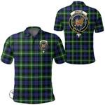 1stScotland Clothing - Baillie Modern Clan Tartan Crest Polo Shirt A7