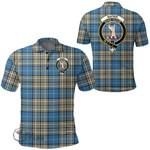 1stScotland Clothing - Napier Ancient Clan Tartan Crest Polo Shirt A7