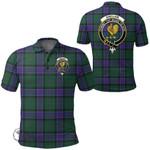 1stScotland Clothing - Sinclair Hunting Modern Clan Tartan Crest Polo Shirt A7