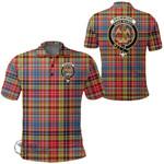 1stScotland Clothing - Drummond Of Strathallan Clan Tartan Crest Polo Shirt A7