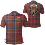 1stScotland Clothing - Cameron Of Lochiel Ancient Clan Tartan Crest Polo Shirt A7