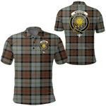 1stScotland Clothing - Macleod Of Harris Weathered Clan Tartan Crest Polo Shirt A7