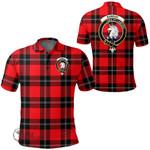 1stScotland Clothing - Ramsay Modern Clan Tartan Crest Polo Shirt A7