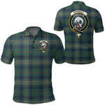 1stScotland Clothing - Kennedy Modern Clan Tartan Crest Polo Shirt A7