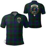 1stScotland Clothing - Davidson Modern Clan Tartan Crest Polo Shirt A7