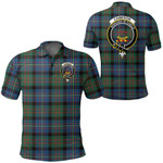 1stScotland Clothing - Cameron Of Erracht Ancient Clan Tartan Crest Polo Shirt A7