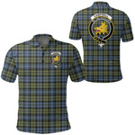 1stScotland Clothing - Campbell Faded Clan Tartan Crest Polo Shirt A7