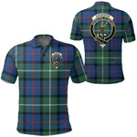 1stScotland Clothing - Davidson Of Tulloch Clan Tartan Crest Polo Shirt A7