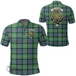 1stScotland Clothing - Macthomas Ancient Clan Tartan Crest Polo Shirt A7