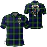 1stScotland Clothing - Forbes Modern Clan Tartan Crest Polo Shirt A7