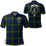 1stScotland Clothing - Gunn Modern Clan Tartan Crest Polo Shirt A7