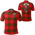 1stScotland Clothing - Adair Clan Tartan Crest Polo Shirt A7