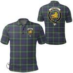 1stScotland Clothing - Campbell Argyll Modern Clan Tartan Crest Polo Shirt A7