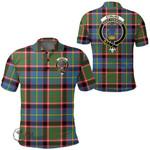 1stScotland Clothing - Stirling & Bannockburn District Clan Tartan Crest Polo Shirt A7