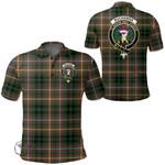 1stScotland Clothing - Buchanan Hunting Clan Tartan Crest Polo Shirt A7
