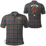 1stScotland Clothing - Macduff Hunting Ancient Clan Tartan Crest Polo Shirt A7