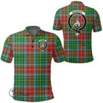 1stScotland Clothing - Muirhead Clan Tartan Crest Polo Shirt A7
