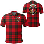 1stScotland Clothing - Wallace Weathered Clan Tartan Crest Polo Shirt A7