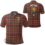 1stScotland Clothing - Cumming Hunting Weathered Clan Tartan Crest Polo Shirt A7