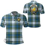 1stScotland Clothing - Campbell Dress Clan Tartan Crest Polo Shirt A7
