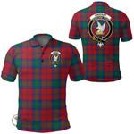 1stScotland Clothing - Lindsay Modern Clan Tartan Crest Polo Shirt A7