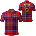 1stScotland Clothing - Cameron Of Lochiel Modern Clan Tartan Crest Polo Shirt A7