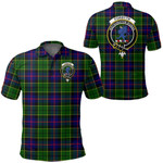 1stScotland Clothing - Forsyth Modern Clan Tartan Crest Polo Shirt A7