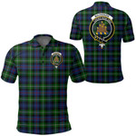 1stScotland Clothing - Mackenzie Modern Clan Tartan Crest Polo Shirt A7