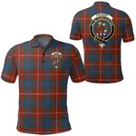 1stScotland Clothing - Fraser Ancient Clan Tartan Crest Polo Shirt A7