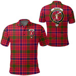 1stScotland Clothing - Macrae Modern Clan Tartan Crest Polo Shirt A7