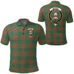 1stScotland Clothing - Menzies Green Ancient Clan Tartan Crest Polo Shirt A7