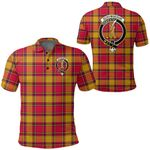 1stScotland Clothing - Scrymgeour Clan Tartan Crest Polo Shirt A7