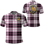 1stScotland Clothing - Macpherson Hunting Modern Clan Tartan Crest Polo Shirt A7