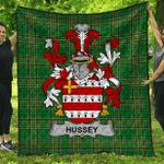 1stScotland Premium Quilt - Hussey Or O'Hosey Irish Family Crest Quilt - Irish National Tartan A7
