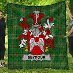 1stScotland Premium Quilt - Seymour Irish Family Crest Quilt - Irish National Tartan A7