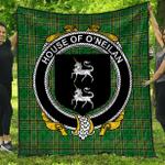 1stScotland Premium Quilt - House Of O'Neilan Irish Family Crest Quilt - Irish National Tartan A7
