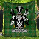 1stScotland Premium Quilt - Barlow Irish Family Crest Quilt - Irish National Tartan A7