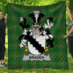 1stScotland Premium Quilt - Braden Or O'Braden Irish Family Crest Quilt - Irish National Tartan A7