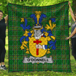 1stScotland Premium Quilt - Donnell Or O'Donnell Irish Family Crest Quilt - Irish National Tartan A7