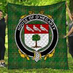 1stScotland Premium Quilt - House Of O'Hegarty Irish Family Crest Quilt - Irish National Tartan A7