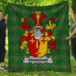 1stScotland Premium Quilt - Branigan Or O'Branagan Irish Family Crest Quilt - Irish National Tartan A7
